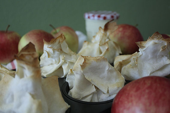 Apfelstrudelpäckchen